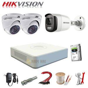 Trọn bộ 3 Camera Hikvision