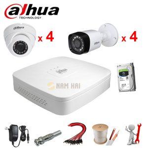 Trọn bộ 8 Camera Dahua