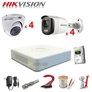 Trọn bộ 8 Camera Hikvision