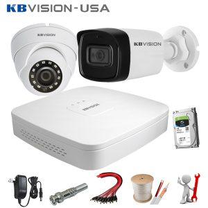 Trọn bộ 2 camera Kbvision