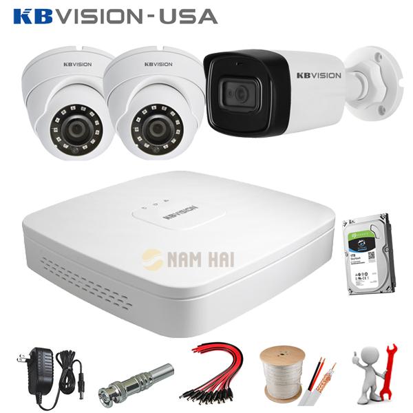 Trọn bộ 3 camera Kbvision