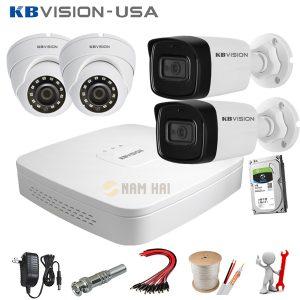 Trọn bộ 4 camera Kbvision